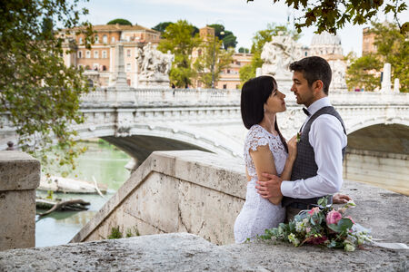 Anastacia e Dmitriy, a young and beatutiful wedding couple in Rome