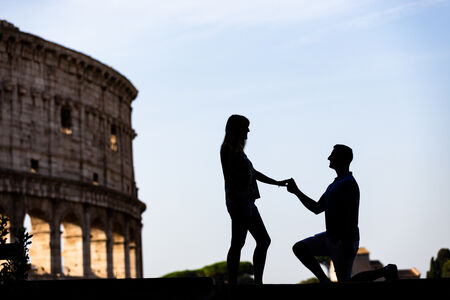 Surprise Proposal at the Colosseum, Rome