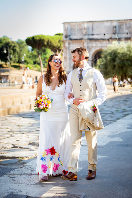 Oriana & Ben, beautiful wedding couple in Rome
