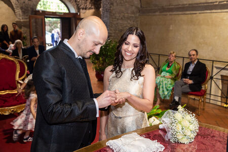 Civil Wedding Ceremony in the Church Saint Mary in Tempulo, Rome